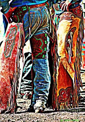 Postured Cowboys ... Montana Art Photo Poster by GiselaSchneider MontanaArtist