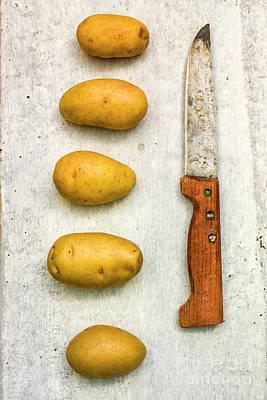 Potatoes And Old Knife Poster by Bernard Jaubert