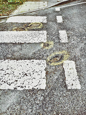Potholes In A Road Poster