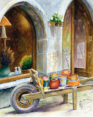 Pottery Cart Poster