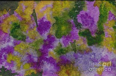 Poster featuring the painting Pouring Flowers by Vicki  Housel