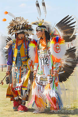 Poster featuring the photograph Pow Wow Contestants - Grand Prairie Tx by Dyle   Warren