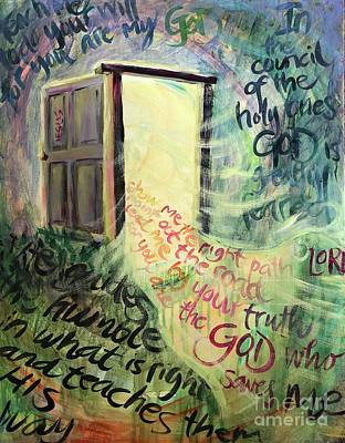 Poster featuring the painting Powerful Truth by Lisa DuBois