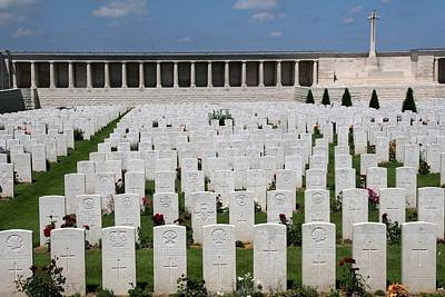 Poster featuring the photograph Pozieres British Cemetery by Travel Pics