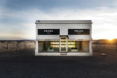 Prada Marfa Is A Permanently Installed Sculpture By Elmgreen And Dragset Near The Town Of Valentine Poster
