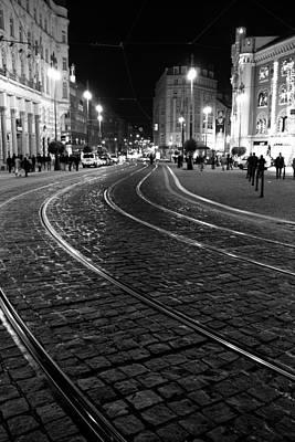 Praga At Night Poster by Stelios Kleanthous