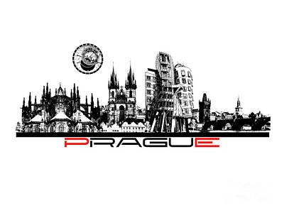 Prague Art Poster