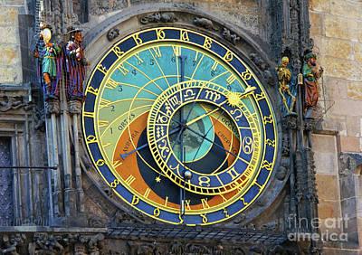 Prague Astronomical Clock Poster by Mariola Bitner