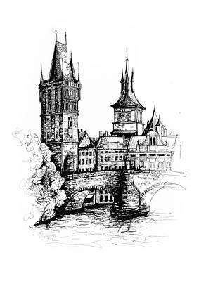 Prague Poster by Katerina Kopaeva