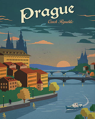 Prague Poster by Long Shot