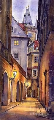Prague Old Street  Poster