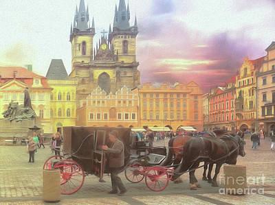 Prague Old Town Square Poster