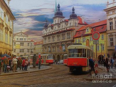 Prague, Old Town, Street Scene Poster