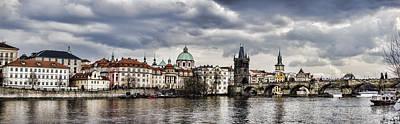 Prague Panorama Poster by Heather Applegate