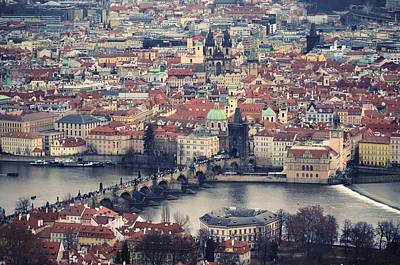 Prague Skyline Poster by Piero Damiani