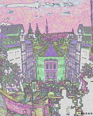 Poster featuring the digital art Praha by Yury Bashkin