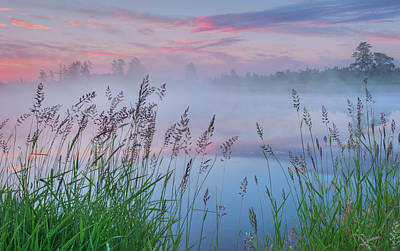 Poster featuring the photograph Prairie Pond Before Sunrise by Dan Jurak