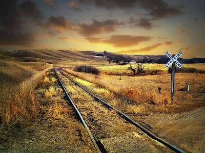 Prairie Tracks Poster