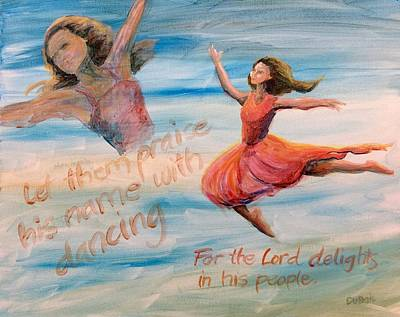 Poster featuring the painting Praise His Name by Lisa DuBois