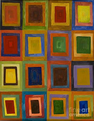 Prana Squares Poster by Sweta Prasad