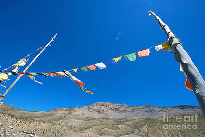 Poster featuring the photograph Prayer Flag by Yew Kwang