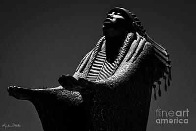 Prayer Statue #3 Poster by Julian Starks