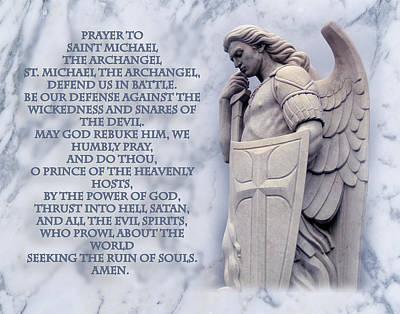 Prayer To St. Michael  Poster by Samuel Epperly