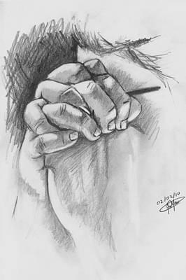 Praying Hands Poster by Jason Yaw