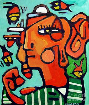 Pre-columbian Watson Blake Fish Juggler Poster by Charlie Spear