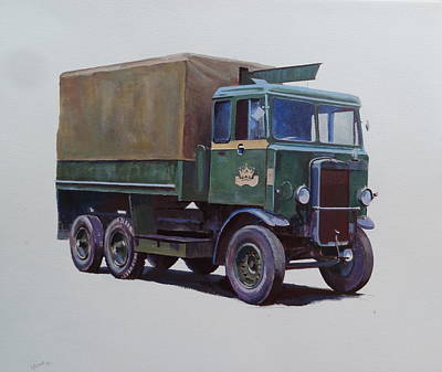 Pre-war Leyland Wrecker. Poster by Mike Jeffries