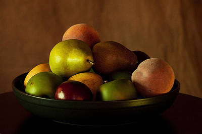Precious Fruit Bowl Poster by Sherry Hallemeier