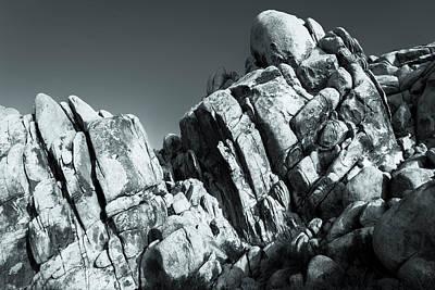 Precious Moment - Juxtaposed Rocks Joshua Tree National Park Poster