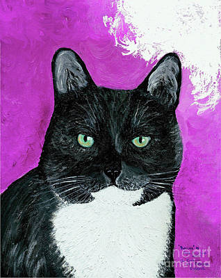 Poster featuring the painting Precious The Kitty by Ania M Milo