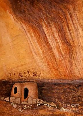Prehistoric Rock Art Poster by Janice Rae Pariza