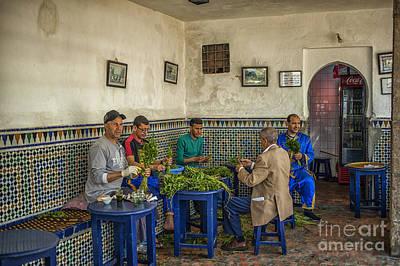 Preparing Mintleaves For Tea Poster by Patricia Hofmeester