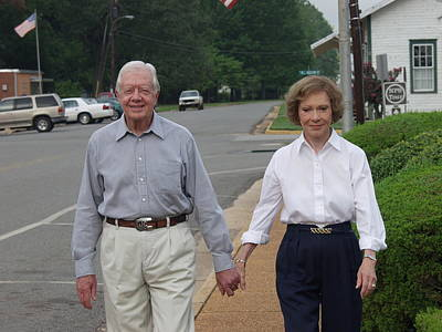Poster featuring the photograph President And Mrs. Jimmy Carter by Jerry Battle
