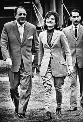 President Ayub Khan Left, Of Pakistan Poster by Everett