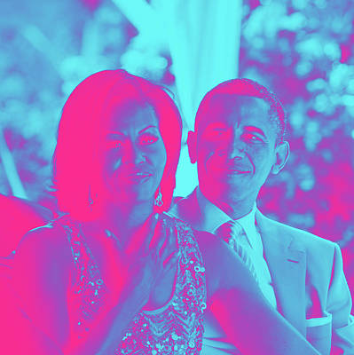 President Barack Obama And The First Lady Michelle Obama Poster by Asar Studios