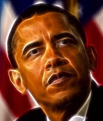 President Barack Obama Poster by Pamela Johnson