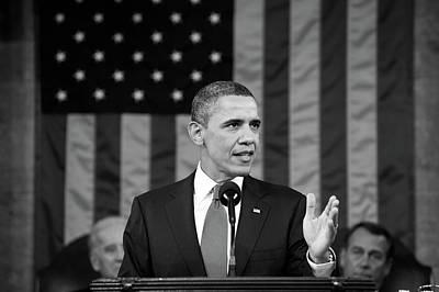 President Barack Obama - State Of The Union Address Poster