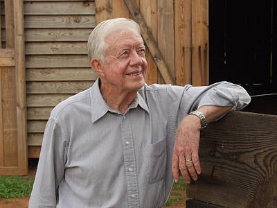 Poster featuring the photograph President Carter At His Boyhood Farm by Jerry Battle