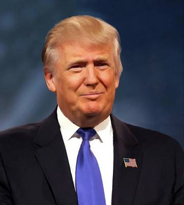 President Donald John Trump Portrait Poster