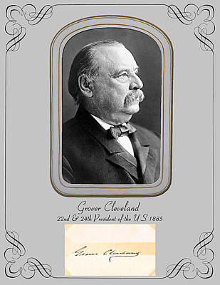 President Grover Cleveland Poster by Larry Hitchens