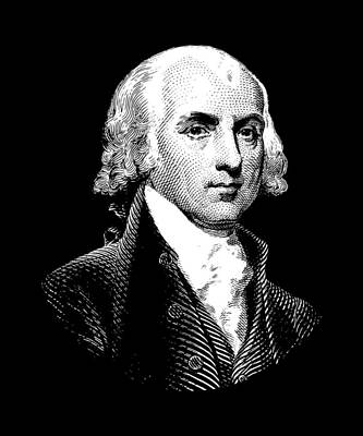 President James Madison Graphic Poster by War Is Hell Store