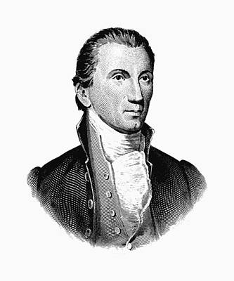 President James Monroe Graphic Poster by War Is Hell Store