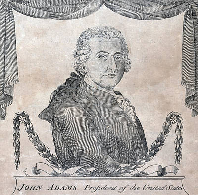 President John Adams, Engraving By Amos Poster