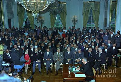 President Johnson Speaks To The Nation Poster
