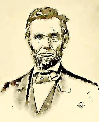 President Of The United States Of America Abraham Lincoln Poster by John Springfield