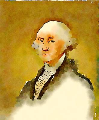 President Of The United States Of America George Washington Poster by John Springfield