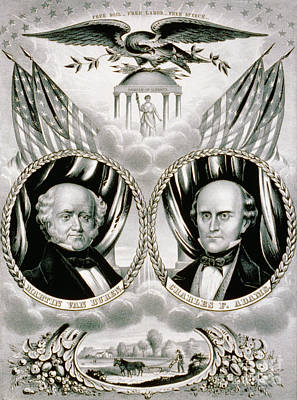 Presidential Campaign Banner, 1848 Poster by Science Source